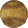 Autographs:Baseballs, 1934 Tour of Japan Team Signed Baseball with Ruth, Gehrig. ...