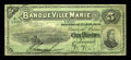 Canadian Currency: , Montreal, PQ- La Banque Ville-Marie $5 Jan. 2, 1889 Ch. #785-12-02. ...