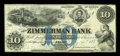 Canadian Currency: , Elgin, PC- The Zimmerman Bank $10 July 4, 1857 Ch. # 815-12-08-08R....