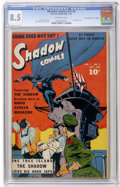 """Golden Age (1938-1955):Miscellaneous, Shadow Comics V7#4 Davis Crippen (""""D"""" Copy) pedigree (Street & Smith, 1947) CGC VF+ 8.5 Off-white pages...."""