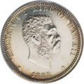 Coins of Hawaii: , 1883 25C Hawaii Quarter PR61 PCGS. The Hawaiian silver coinage of1883 were struck in business strike form at the San Franc...