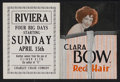 "Movie Posters:Comedy, Red Hair (Paramount, 1928). Herald (Folded: 4.5"" X 6"", Unfolded: 6""X 9""). Comedy. Starring Clara Bow, Lane Chandler, Willia..."