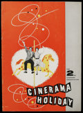 Movie Posters:Miscellaneous, Cinerama Program Lot (Cinerama Releasing, 1955-1958). Programs (2) (Multiple Pages). Documentary. Included in this lot are p... (Total: 2 Items)