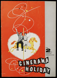 Cinerama Program Lot (Cinerama Releasing, 1955-1958). Programs (2) (Multiple Pages). Documentary. Included in this lot a...