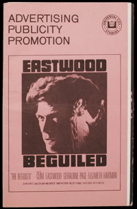"""Clint Eastwood Lot (Various, 1969-1971). Pressbooks (4) (Multiple Pages). Included in this lot are pressbooks for """"..."""