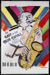 """The Last of the Blue Devils (Rhapsody, 1980). One Sheet (24"""" X 36""""). Musical Documentary. Starring Count Basie..."""
