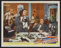 """Abbott and Costello in Hollywood (MGM, 1945). Lobby Card (11"""" X 14""""). Bud Abbott and Lou Costello star as tale..."""