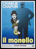 """Movie Posters:Comedy, The Kid (First National, R-1960s). Italian 2 - Folio (39"""" X 55"""").Comedy. Starring Charles Chaplin, Jackie Coogan, Edna Purv..."""