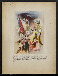 Gone with the Wind (MGM, 1939). Program (Multiple Pages). Civil War Drama. Starring Clark Gable, Vivien Leigh, Leslie Ho...