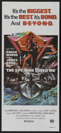 "Movie Posters:James Bond, The Spy Who Loved Me (United Artists, 1977). Australian Daybill(13.5"" X 30""). James Bond Action. Starring Roger Moore, Barb..."