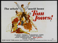 "Tom Jones (United Artists, 1963). British Quad (30"" X 40""). Academy Awards. Comedy Adventure. Starring: Albert..."