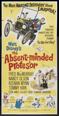 """The Absent-Minded Professor (Buena Vista, 1961). Three Sheet (41"""" X 81""""). Family Comedy. Starring Fred MacMurr..."""