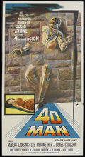 "Movie Posters:Science Fiction, 4D Man (Universal International, 1959). Three Sheet (41"" X 81"").Sci-Fi Thriller. Starring Robert Lansing, Lee Meriwether, J..."