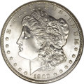 Morgan Dollars: , 1903 $1 MS67 NGC. Sharply struck and brilliant, with bright satinluster and minimal surface ...