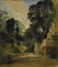 Fine Art - Painting, European:Antique  (Pre 1900), Attributed to JOHN CONSTABLE, R.A. (British 1776-1837). A ViewNear Dedham. Oil on canvas on panel. 10 x 8-3/4 inches (2...