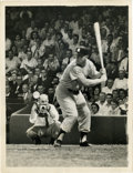 Baseball Collectibles:Photos, 1956 Mickey Mantle Press Photograph with Dwight Eisenhower. Dating from Mickey Mantle's epic Triple Crown season of 1956 we...