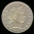 Proof Barber Quarters: , 1906 25C