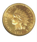 Proof Indian Cents: , 1874 1C, RD