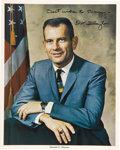 Autographs:Celebrities, Donald K. Slayton (1924-1993) Color Photo Signed...