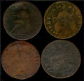 More Connecticut Cents. Included are: 1787 Fair 2 Corroded; 1788 Good 4 Planchet Flaws; 1788 Good 6; and a 1788 VG 8...