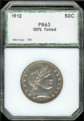 Additional Coins: , 1912 50C Half Dollar PR 63 PCI. Highly lustrous with even, gol...