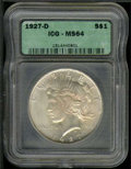 Additional Coins: , 1927-D Dollar MS 64 PCI. Well defined with sparkling luster and...