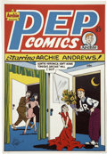Original Comic Art:Miscellaneous, Al Fagaly - Pep Comics #57 and #72 Publisher's Cover Proofs (Archie, 1946-49).... (Total: 2 Items)