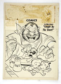 Original Comic Art:Covers, Tick Tock Tales #32 Cover Original Art (ME, 1951)....