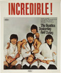 "Music Memorabilia:Posters, Beatles Butcher Cover In-Store Promotional Poster (Capitol, 1966).The caption screams out ""Incredible!"" in huge red letters...(Total: 1 Item)"