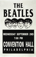 Music Memorabilia:Posters, The Beatles Philadelphia Convention Center Concert Poster (1964).After a brief blitzkrieg visit to the US in February 1964...(Total: 1 Item)