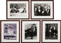 "Movie/TV Memorabilia:Photos, Beverly Hills CENSORED Club Set of Five Framed Photos. Set of fiveb&w 8"" x 10"" photos of CENSORED Club members and honorees...(Total: 1 Item)"