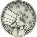 Explorers:Space Exploration, Space Shuttle Atlantis (STS-27) Unflown Robbins Silver Medallion,Serial Number 150,...