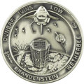 Explorers:Space Exploration, Space Shuttle Columbia (STS-32) Unflown Robbins Silver Medallion,Serial Number 122,...