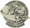 Explorers:Space Exploration, Space Shuttle Challenger (STS-51L) Unflown Robbins Silver Medallion, Serial Number 255,...