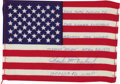Explorers:Space Exploration, Apollo 16 Lunar Module Flown United States Flag...