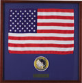 Transportation:Space Exploration, Apollo 12 Flown U.S. Flag with Crew Patch....