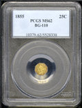 California Fractional Gold: , 1855 25C BG-110