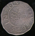 1652 Oak Tree Shilling VF 20. Breen-15, Noe-1. 4.48 grams. The obverse is struck a bit off-center while the reverse show...
