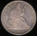 1876-CC Half Dollar MS 65. Sharply struck throughout, each side is covered with thick mint frost which is in turn overla...