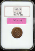 Proof Indian Cents: , 1870 1C, RB