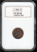 Proof Indian Cents: , 1879 1C, RB