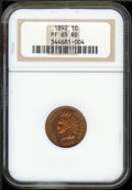 Proof Indian Cents: , 1892 1C, RD