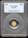 California Fractional Gold: , 1876 50C BG-951