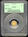 California Fractional Gold: , 1870 $1 BG-1203
