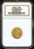 Three Dollar Gold Pieces: , 1854-O $3