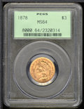 Three Dollar Gold Pieces: , 1878 $3