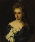 Fine Art - Painting, European:Antique  (Pre 1900), EUROPEAN SCHOOL (Nineteenth Century). Portrait Of A Young LadyWith Pearls. Oil on canvas. 30-1/8 x 25 inches (76.5 x 63...
