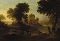 Fine Art - Painting, European:Antique  (Pre 1900), CONTINENTAL SCHOOL (Late Eighteenth Century). Landscape. Oilon panel. 32-1/4 x 47-1/2 inches (82 x 121 cm). Unsigned. ...