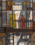 Texas:Early Texas Art - Modernists, WILLIAM LESTER (1910-1991). Fire Escape, 1957. Oil oncanvas. 44in. x 34in.. Signed, dated, and titled verso. The int...