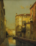 Fine Art - Painting, European:Modern  (1900 1949)  , ANTOINE BOUVARD (French 1870-1956). A Venetian Canal Scene.Oil on canvas. 25-1/2 x 19-1/2 inches (64.8 x 49.5 cm) . Sig...